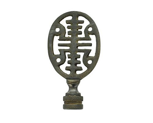Upgradelights Vintage Antique Style Asian Symbol Lamp Finial (Oil Rubbed Bronze)