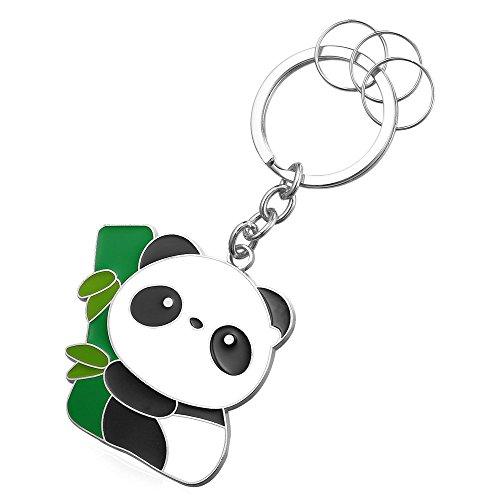 Panda+Keytag+Metal+Alloy+Platinum+Key+Ring+Keyrings+For+Men