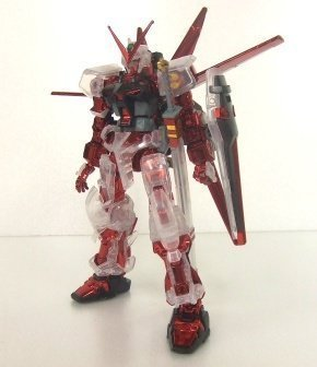 Gundam SEED - MBF-P02 Gundam Astray Red Frame : Flight Unit (Plated Frame/Clear Armor Ver.) (HG) by Bandai