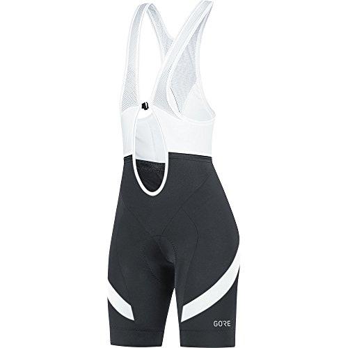 (Gore Wear C5 Women's Bib Shorts, Black/White, X-Small)