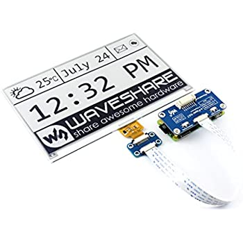 waveshare 7.5inch e-Paper HAT for Raspberry Pi 640X384 resolution embedded controller SPI interface