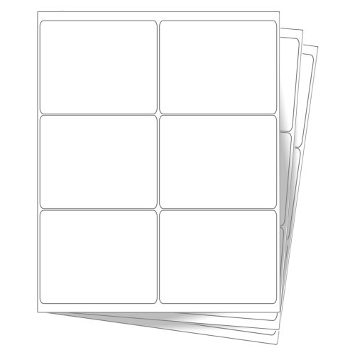 60 EcoSwift Shipping Labels 4 x 3 1/3 inches Mailing Address Blank White Self Adhesive for Laser Inkjet Printer 4 x 3.33