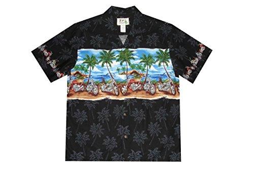 Harley Davidson Mens Hawaiian Button Shirt (M, Black) (Motorcycle Shirt Hawaiian)