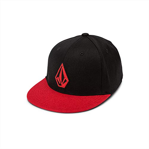 Volcom Big Boys Stone Stack Five Panel Jfit Hat, True red, One Size Fits All