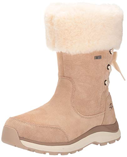 UGG Women's W Ingalls Boot Snow, Sand 9.5 M US (Leather Women Boots Ugg)