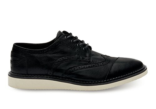 TOMS Mens Brogue Black Full Grain Leather Oxford 10.5 D (M) by TOMS (Image #3)