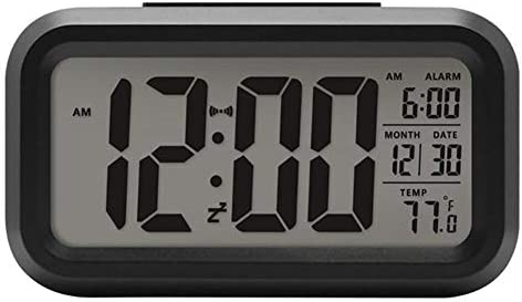 Home Smart Temperature Silent Backlight Electronic Digital Alarm Clock Led Snooze Table Clock Wake Up Alarm Clock Home Decor K8eet4w3rq Color Black Buy Online At Best Price In Uae Amazon Ae