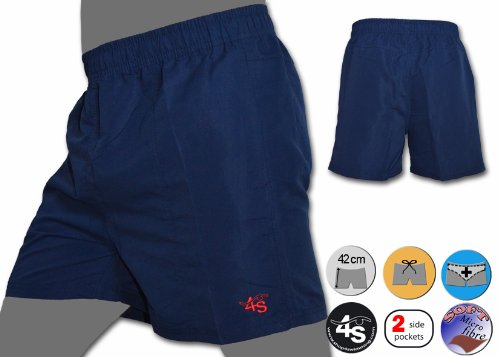 Dunkelblaue Badeshorts Boxershorts S4S NY - XL