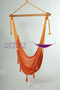 Savannah Large L Chair Hammock COTTON Thick Cord woven, Orage