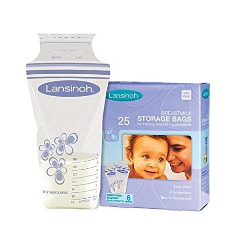 Lansinoh 20435 Breastmilk Storage Bags, 25-Count Box - Data Busta