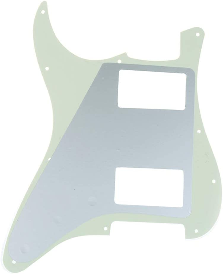 Musiclily Pro 11 Hole HH Guitar Strat Pickguard Humbucker for American//Mexican Fender Standard Stratocaster Modern Style 4Ply White Pearl