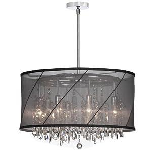 Dainolite Lighting SAF2281514 Eight Light Crystal Large Pendant, Polished Chrome