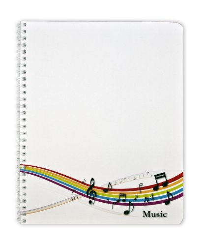 BookFactory Music Notebook/Music Journal - 100 Pages, Laminate Cover, Wire-O, 8