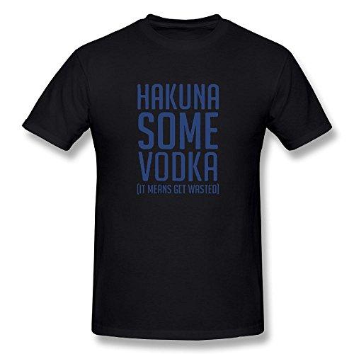 Men Hakuna Some Vodka - Drunk Drinking Alcohol Classic T-Shirt Black Size (Ukrainian Vodka)