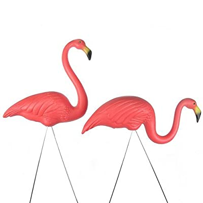 "Union 62360 Original Featherstone, Pink Flamingo Yard Lawn Ornaments, 38"" -Set of 2 : Garden & Outdoor"