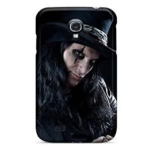 InesWeldon Samsung Galaxy S4 Bumper Hard Cell-phone Case Support Personal Customs High Resolution Alice Cooper Band Pictures [ryJ13338FALU]