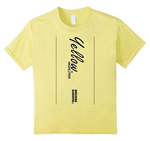 Kids Yellow Highlighter Style Halloween Costume T-Shirt 10