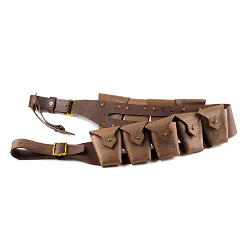 [UK 1903 Pattern Leather Cavalry 9-Pocket Bandolier SW Tusken Raider Sand People] (Jawa Costume Uk)