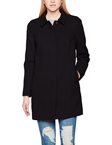 Coat Para Classic Negro Coloured United Colors black Of Abrigo Benetton Mujer AaOTa4Xxqn