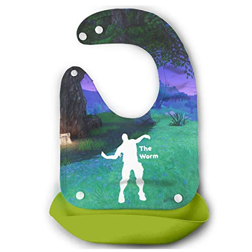 (The Worm Emote Dances Baby 3D Mouth Towel Cute Drool Bibs)