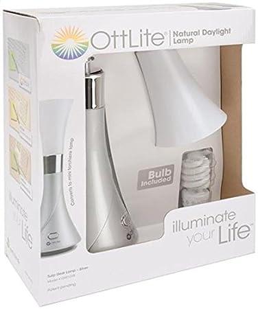 OttLite 15991SV8 Tulip Desk Lamp, Silver