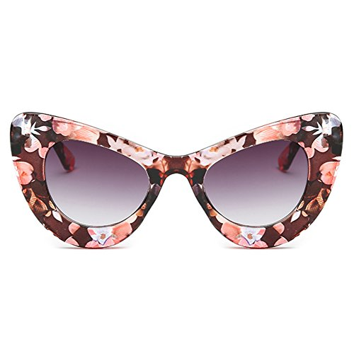 Gafas Color Show Glasses Cat Eye 5 Party Summer de Style Wild hibote Gradient sol 4Epqnf