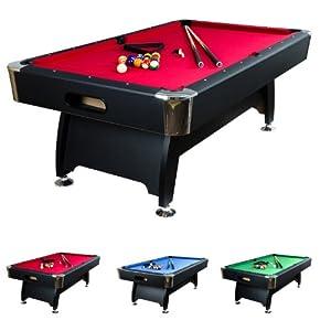 7 ft Billardtisch Premium, Korpusfarbe schwarz, 3 Farbvarianten, Maße ca....