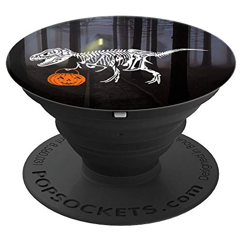 Funny Halloween Dinosaur T Rex Pumpkin Pop Socket for Boys - PopSockets Grip and Stand for Phones and Tablets -