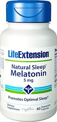 LifeExtension Quiet Sleep Melatonin 5 mg, 60 Veg. Caps (Pack of 2)