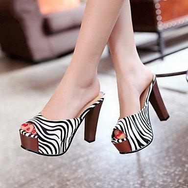 LvYuan Mujer-Tacón Robusto-Confort Innovador Gladiador Zapatos del club-Sandalias-Boda Exterior Oficina y Trabajo Vestido Informal Deporte Black