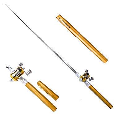 TY Caña de casting Aluminio 100 M Pesca en hielo / Pesca en General / Pesca en Bote / Pesca al curricán Cañas + Carrete de la pescaNegro / , 1.5 Caña de pescar