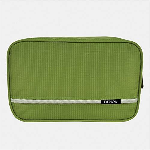 化粧品袋 さん化粧品袋トイレタリーキットは、女の子の女性のための気質ジッパー収納袋主催のパターンで化粧品袋を旅行します 旅行化粧収納ボックス (Color : ArmyGreen)