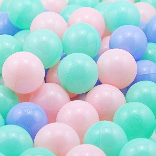 Thenese Pit Balls Crush Proof Plastic Children's Toy Balls Mult Ocean Balls 2.15 Inch Balls Pack of 200 Random Color