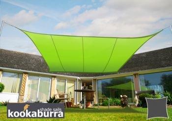 クッカバラ日除けシェードセイル 黄緑色 3.6m正三角形 紫外線98%カット防水タイプ OL0113ST B004XGD2HK 12995 三角形: 3.6 x 3.6m  三角形: 3.6 x 3.6m