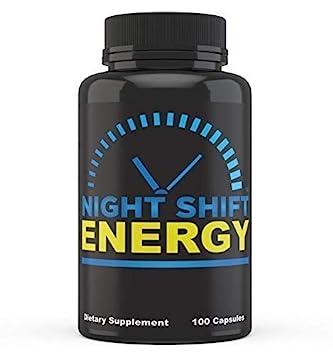 Night Shift Energy Pills 100 Capsules – Best Energy Boost Supplement for Men and Women
