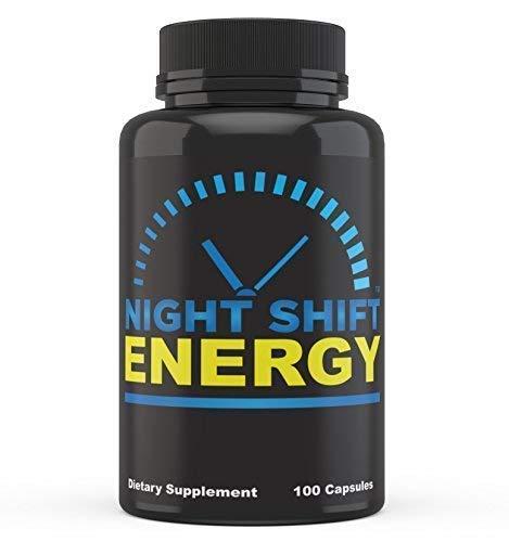 Night Shift Energy Pills 100 Capsules - Best Energy Boost Supplement for Men and Women (Best Otc Energy Pills)