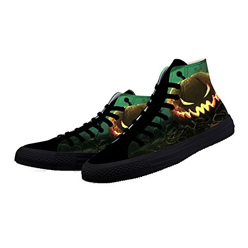 Shoes for Sneakers Pumpkin2 Black Halloween Pumpkin DANCE Men Printed Top FIRST High Shoes Gifts for qHPxT7