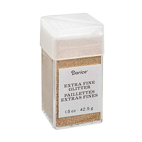 Darice 30029610 Extra Fine, Copper, 1.5 Ounces Glitter, -