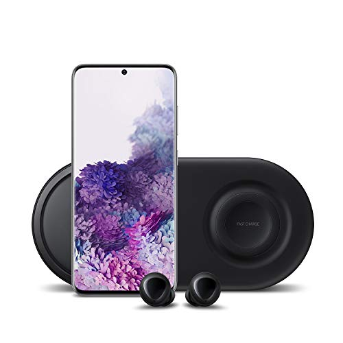 🥇 Samsung Galaxy S20 5G Factory Unlocked 128GB | New Android Cell Phone Bundle | US Version | Cosmic Gray | Includes Samsung Galaxy Buds & Samsung Duo Wireless Charging Station