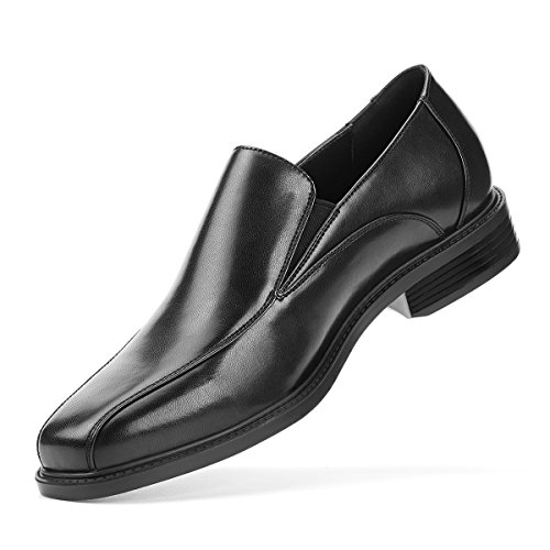 SEMANS Men's Dress Shoes Slip On Formal Leather Loafer Shoes Stylish Bicycle Toe Black Brown