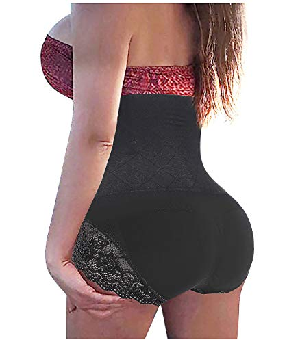 GAODI Women Body Shaper Butt Lifter Hi-Waist Panty Seamless Waist Trainer Tummy Control Shapewear (XL/2XL, Black)