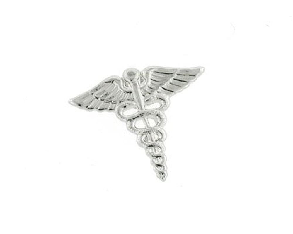 JJ Weston Caduceus Doctor Tie Tack. Made in the USA. TT-1507-SS