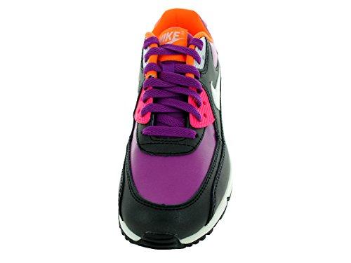 Nike Big Kids Air Max 90 Leder Laufschuhe Fett Berry / Weiß / Pink Pow / Blk