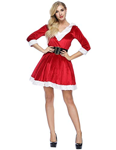 ADOMI Women's 2 Piece Mrs. Claus Costume Santa Baby Costume M Red - http://coolthings.us