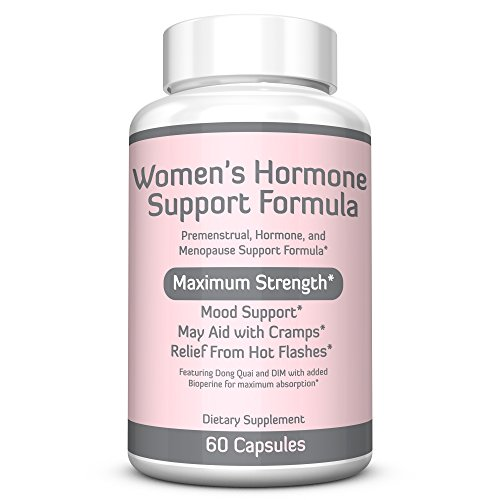WOMEN'S HORMONE SUPPORT FORMULA - Extra Strength DIM 200mg with BioPerine, Dong Quai, Vitamin E, Balance Hormones, Estrogen Metabolism, Mood Support, PMS Relief, Menopause Relief, 2 Month Supply