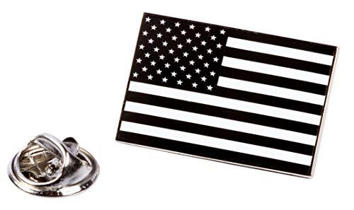 PinAddict Black American Flag Lapel Pin Patriotic Tie Tack United States Emblem - Pin Emblem Lapel Flag