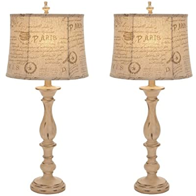 Urban Designs French Connection Candlestick Style Table Lamp (Set of 2), 34""