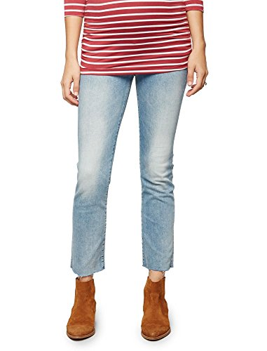 Mother Secret Fit Belly Fray Hem Maternity Jeans
