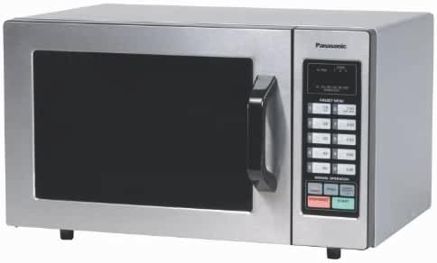 Panasonic NE-1054F Stainless 1000W 0.8 Cu. Ft. Commercial Microwave Oven with 10 Programmable Memory and Touch Screen Control