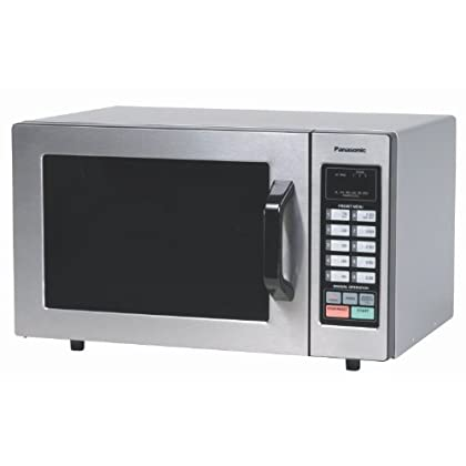 Image of Home and Kitchen Panasonic NE-1054F Countertop Commercial Microwave Oven with 10 Programmable Memory, Touch Screen Control and Bottom Energy Feed, 1000W, 0.8 Cu. Ft. (Stainless Steel), 5'